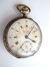 Montre Gousset en argent Pocket Watch Chronomètre croissant