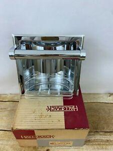 Vintage Hall-Mack Coronado Soap and Grab Recessed Soap Dish Chrome #665 Box USA