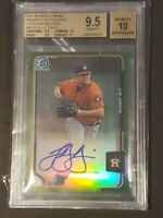 2015 Bowman Chrome Refractor GREEN /99 JD Davis Autograph RC Rookie BGS 9.5/10