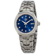 Tag Heuer Link Blue Diamond Dial Ladies Watch WBC1318.BA0600