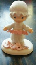 SALE Precious Moments Figurine You Have Touched So Many Hearts Cross Symbol 1983