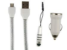 Trio Pack (Micro USB, Cargador de coche, Lápiz óptico mini) para Cubot P20