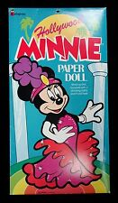 Cut Paper Doll Book - Hollywood Minnie - Colorforms #802 -c1990s