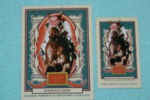SEABISCUIT LOT OF 2 2013 GOLDEN AGE BASE & MINI #48 LEGEND