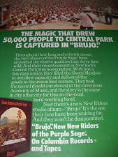 New Riders Of The Purple Sage 1974 Promo Ad Central Pk.