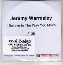 (CQ7) Jeremy Warmsley, I Believe In The Way You Move - 2006 DJ CD
