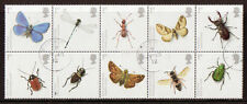 GREAT BRITAIN 2008 INSECTS BLOCK OF 10 FINE USED