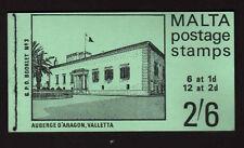 MALTA 1971 2/6d BOOKLET SB 3 FINE & COMPLETE.