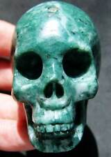 "BIG 2.6"" 6.4OZ NEW JADE Skeleton, Crystal Healing SKULL"