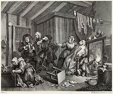 Hogarth Print Reproductions: A Harlot's Progress, Plate 5: Fine Art Print