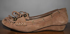 Arturo Chiang Leather Low Heel Wedge Slip On Comfy Oxford Comfy Shoes Size 7M