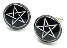 Pentacle Pentagram Stud Earrings Pagan Wiccan Witch Star Goth Emo Gift