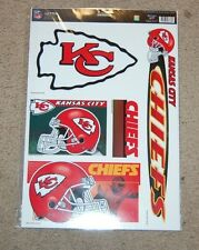 KANSAS CITY CHIEFS NFL FOOTBALL SPORTS MULTI-USE DECALS PACK OF 5