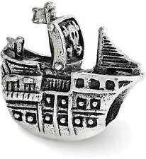 Sterling Silver Reflections Pirate Ship Bead