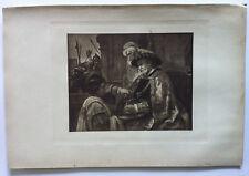 REMBRANDT Gravure Originale XIXème PILATE se lavant les mains (vers 1656)