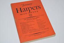 Vintage January 1928 Harpers Magazine