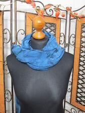 Barbara Speer schöner dekorativer Schal/Tuch in azur batik NEU!!!Lagenlook