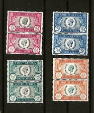 SOUTH AFRICA (636) 1935 SG65-68 SILVER JUBILEE FULL SET IN PAIRS  FINE MM / MH