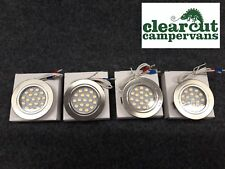 4 x TOUCH OPERATED 12V LED SPOTLIGHTS /DOWNLIGHTERS,CAMPERVAN,MOTORHOME LIGHTING