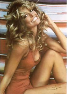 Poster Farrah Fawcett Poster 1976 Iconic Bathing Suit Poster, 24X36