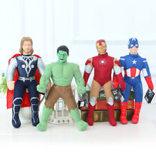 4 x HASBRO HULK IRON MAN THOR CAPTAIN ACTION FIGURES DOLL PLUSH SOFT STUFFED TOY