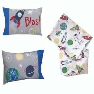 Parent's Choice 3-Piece Toddler Bed sheet set Astronaut - Space  - See Details