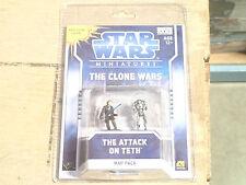Star Wars Minitaures Clone Wars Scenario The Attack on Teth Map Pack 1 *