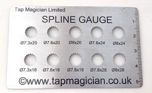 Tap Magician Valve Cartridge Spline Gauge teeth Measuring size Finder Plumbers
