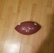 Kareem hunt signed official size baden football w/coa