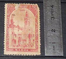 CINDERELLA 1900 VIGNETTE TIMBRE EXPOSITION PARIS EXPO UNIVERSELLE FRANCE MAROC