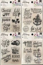 Lot of 4 American Crafts BIBLE JOURNALING CLEAR STAMPS