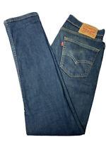 Levis 511 Mens Denim Skinny Blue Jeans Size 33 x 32