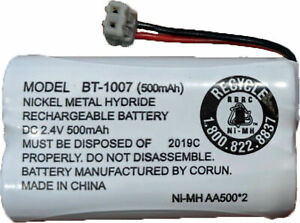 Corun BT-1007: Nickel-Cadmium 500mAh, 2.4V Rechargeable Phone Battery