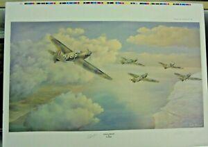 """Stalag Bound"" Spitfire signed  limited edition Spitfire print - Les Pooley"