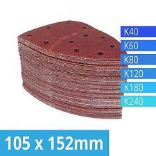 Pack Of 120 Hook Loop Sanding Sheets 105 x 152 mm Grit Sandpaper Multi Sander