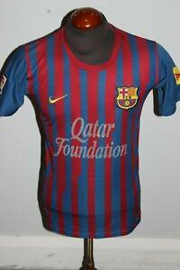 PRE-OWNED MENS NIKE AUTHENTICS 2011 FC BARCELONA SOCCER JERSEY #9 ALEXIS SANCHEZ
