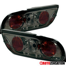For 1989-1994 Nissan 240SX S13 Hatchback Smoke Lens Tail Lights Brake Lamps Pair