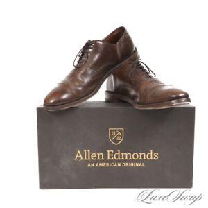 Allen Edmonds Made in USA 58455 Brown Mottled Park Avenue Captoe Shoes 10.5 B NR