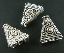 50pcs Tibetan Silver 3-to-1 3D Connectors 17x15x8mm 10169