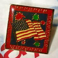 Vintage Rare4th Fourth of July American Flag Fireworks Celebration McDonalds Pin
