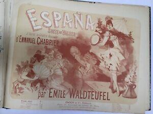 Cheret / Johann Strauss / Emmanuel Chabrier, etc. - Recueil de Valses .1880