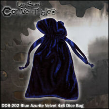 LAST STAND CONVERTIBLES - Blue Azurite Velvet 4x6 Dice Bag