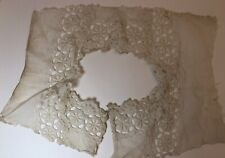 More details for vintage collar bodice front piece 1940s 1950s broderie anglaise retro floral old