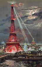 The Eiffel Tower art CANVAS print Georges Garen Paris France La Tour Eiffle