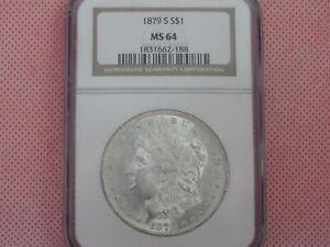 1879-S Morgan Silver Dollar, NGC MS-64!