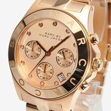 NEW Marc by Marc Jacobs MBM3102 Ladies Rose Gold Chronograph Watch