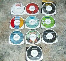 Lot of 9 PSP UMD Movies- American Wedding-Spider Man 2, Kick Ass, Jumanji, ETC