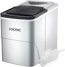Fooing Ice Maker Countertop, Self-Cleaning Function, 26lbs 24Hrs, 9 Cubes Ready