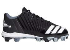 New Adidas Icon Md K Baseball Cleats Shoes Black White (B39227) Sz 2.5