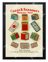 Historic Chase & Sanborn's Package Teas Advertising Postcard